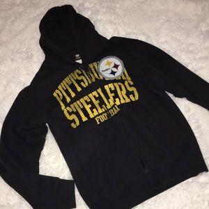 Unisex Pittsburgh Steelers zip up hoodie